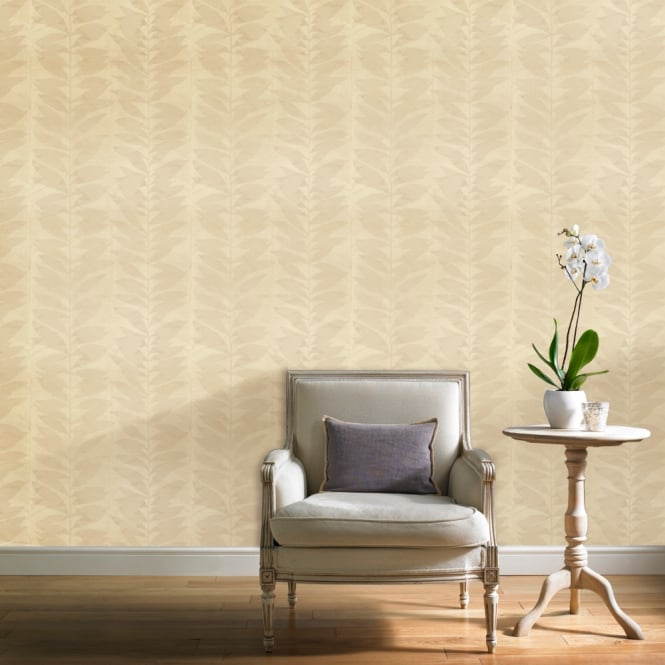 Grandeco Botanical Floral Leaf Pattern Wallpaper Modern Striped Leaves Motif BA2102