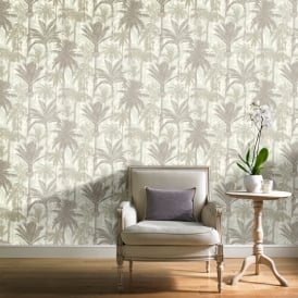 Grandeco Botanical Trees Pattern Wallpaper Forest Leaf Modern Metallic Textured BA2302