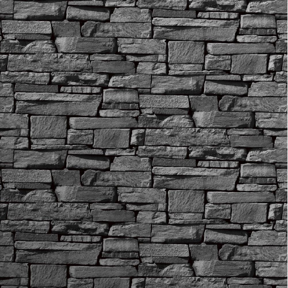 Stone Effect Kitchen Wallpaper: Grandeco Dax Dry Stone Wall Slate Brick Effect Vinyl