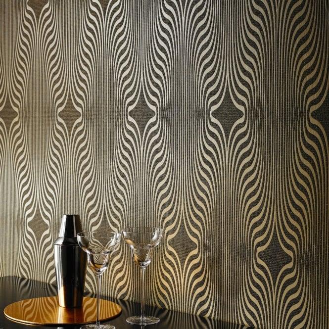 Grandeco Zebra Stripe Glitter Blown Vinyl Wallpaper BOB-19