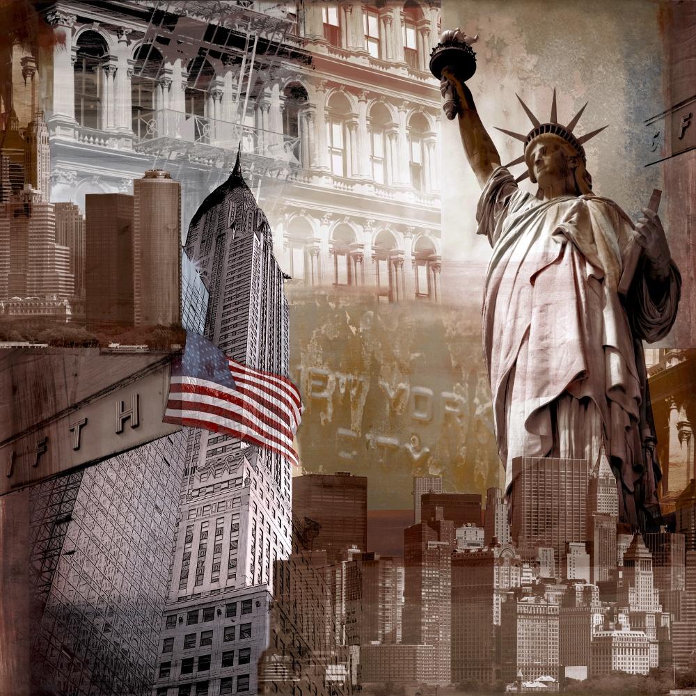Grandeco ideco 5th avenue new york photo mural wallpaper for New york mural wallpaper