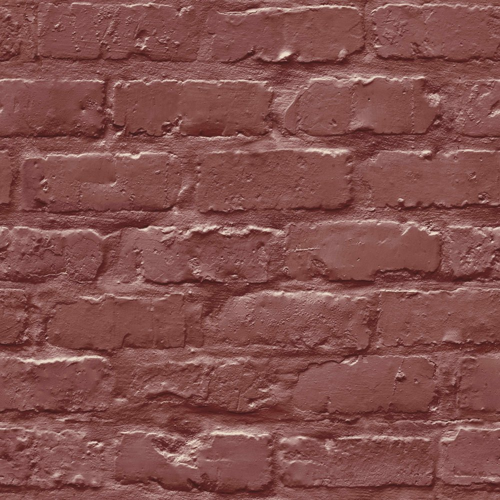 Grandeco ideco painted brick wall pattern faux effect wallpaper a10403 - Paints for exterior walls set ...