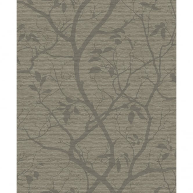 Grandeco Marino Floral Leaf Pattern Silhouette Tree Metallic Wallpaper A10114