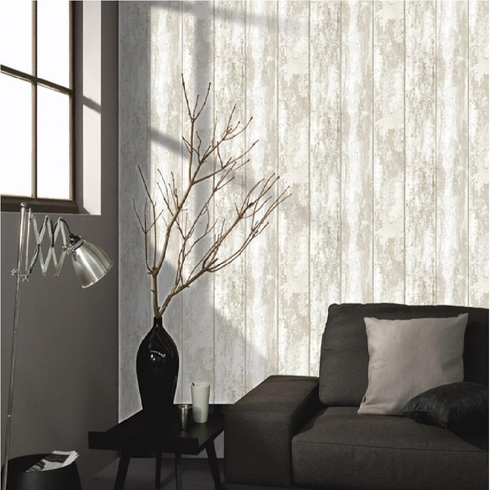 Grand Villa By Wood Mode: Grandeco Montrovilla Wood Panel Effect Vinyl Wallpaper VOA