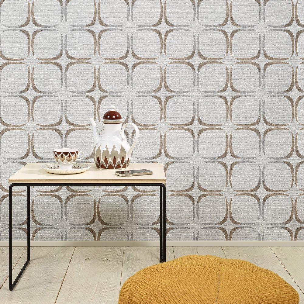 grandeco retrospective 60 retro square textured wallpaper. Black Bedroom Furniture Sets. Home Design Ideas