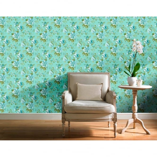Grandeco Royal Bouquet Floral Leaf Pattern Flower Motif Wallpaper POB-23-03-7