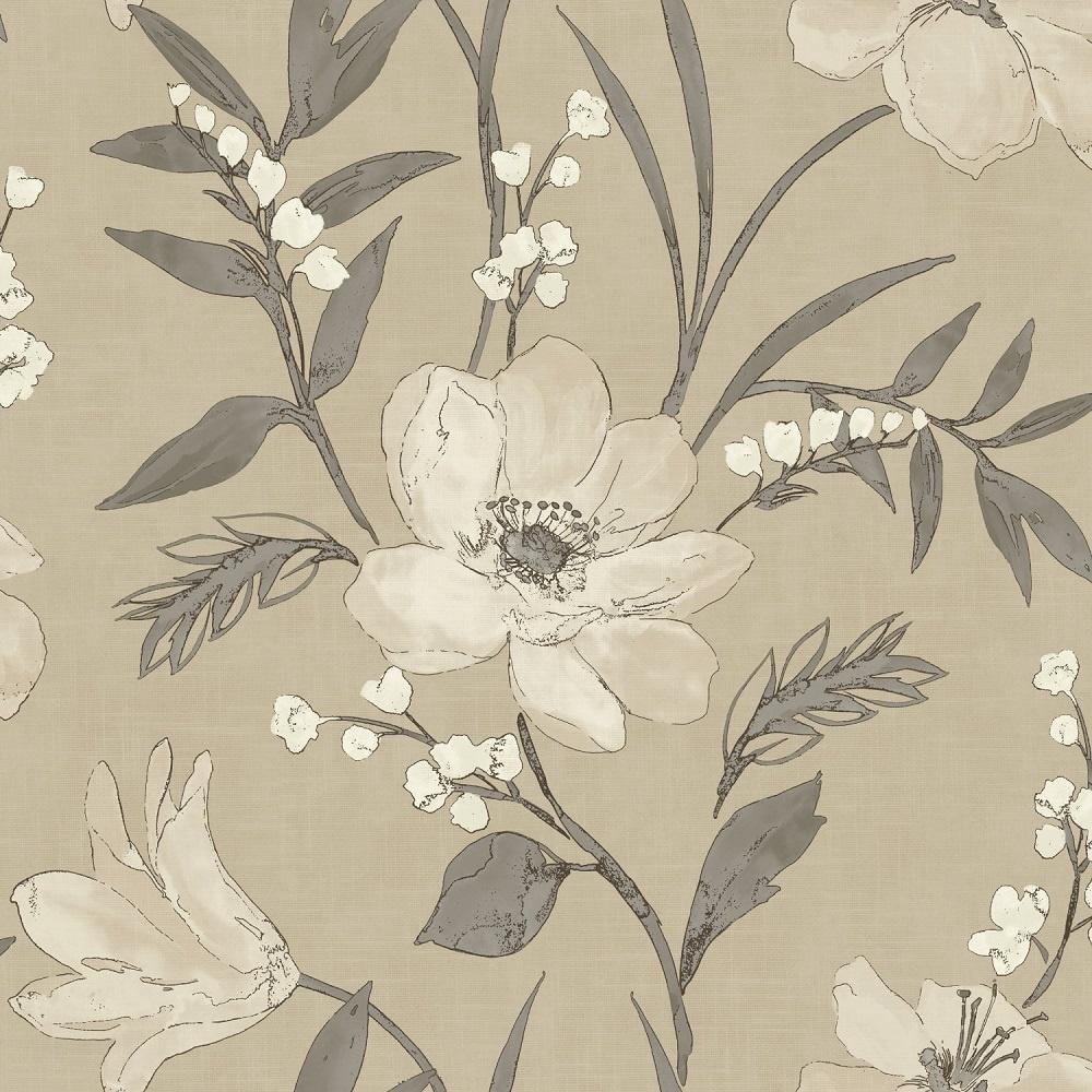 grandeco royal house elise floral metallic wallpaper beige. Black Bedroom Furniture Sets. Home Design Ideas