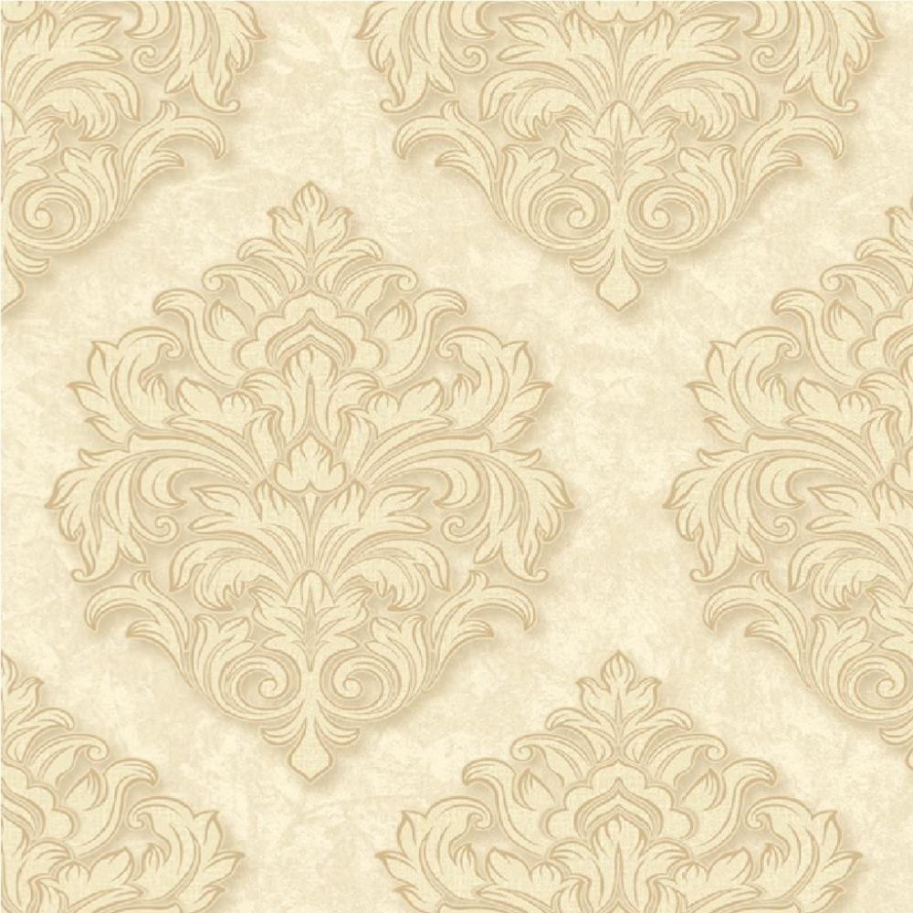 Grandeco venice damask textured embossed vinyl wallpaper for Embossed wallpaper