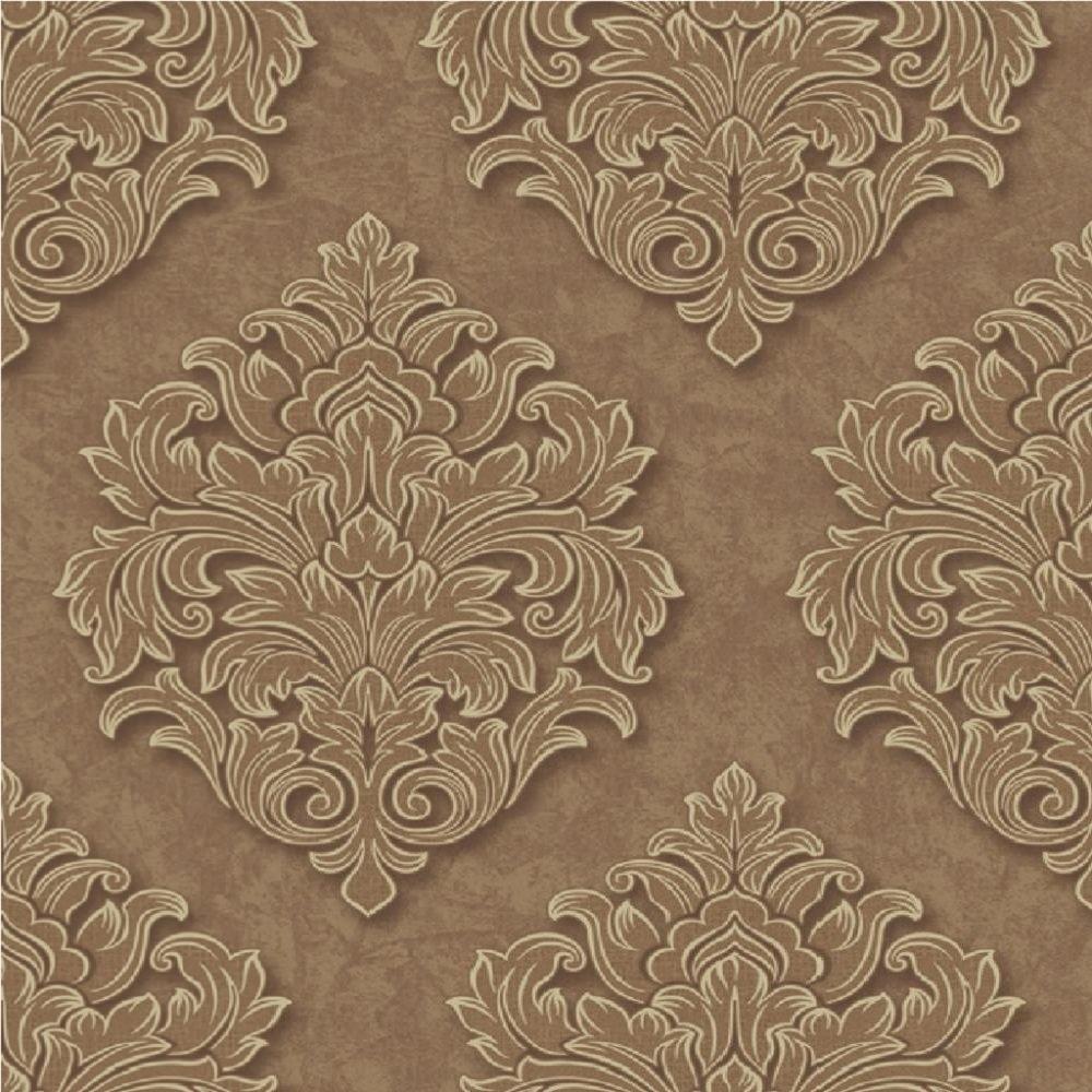 Grandeco venice damask textured embossed vinyl wallpaper for 3d embossed wallpaper