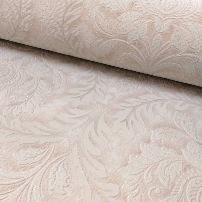 Grandeco Venice Small Damask Textured Embossed Blown Vinyl Wallpaper VNA-006-001-7
