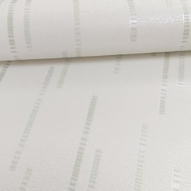Grandeco Ideco Dash Stripe Pattern Glitter Embossed Vinyl Wallpaper A13502