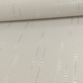 Grandeco Ideco Dash Stripe Pattern Glitter Embossed Vinyl Wallpaper A13503