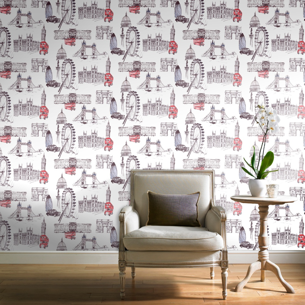 Grandeco Ideco Designer London Colour Paint Wallpaper POB 26 01 6