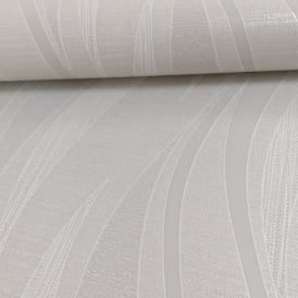 Grandeco Ideco Drift Wave Pattern Glitter Stripe Embossed Vinyl Wallpaper A13603