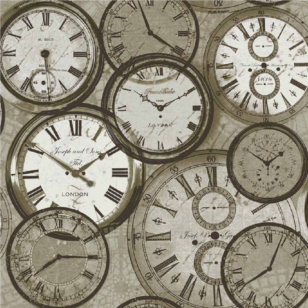 ideco home time vintage clocks watches retro wallpaper pob. Black Bedroom Furniture Sets. Home Design Ideas