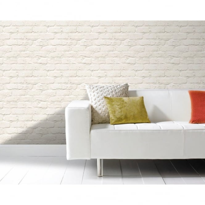 Grandeco Ideco Painted Brick Wall Pattern Faux Effect Motif Wallpaper A10402
