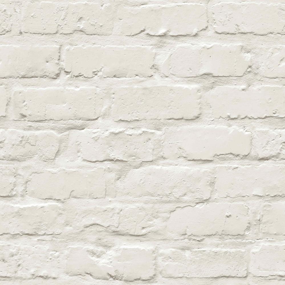 Grandeco Ideco Painted Brick Wall Pattern Faux Effect Motif Wallpaper A10402