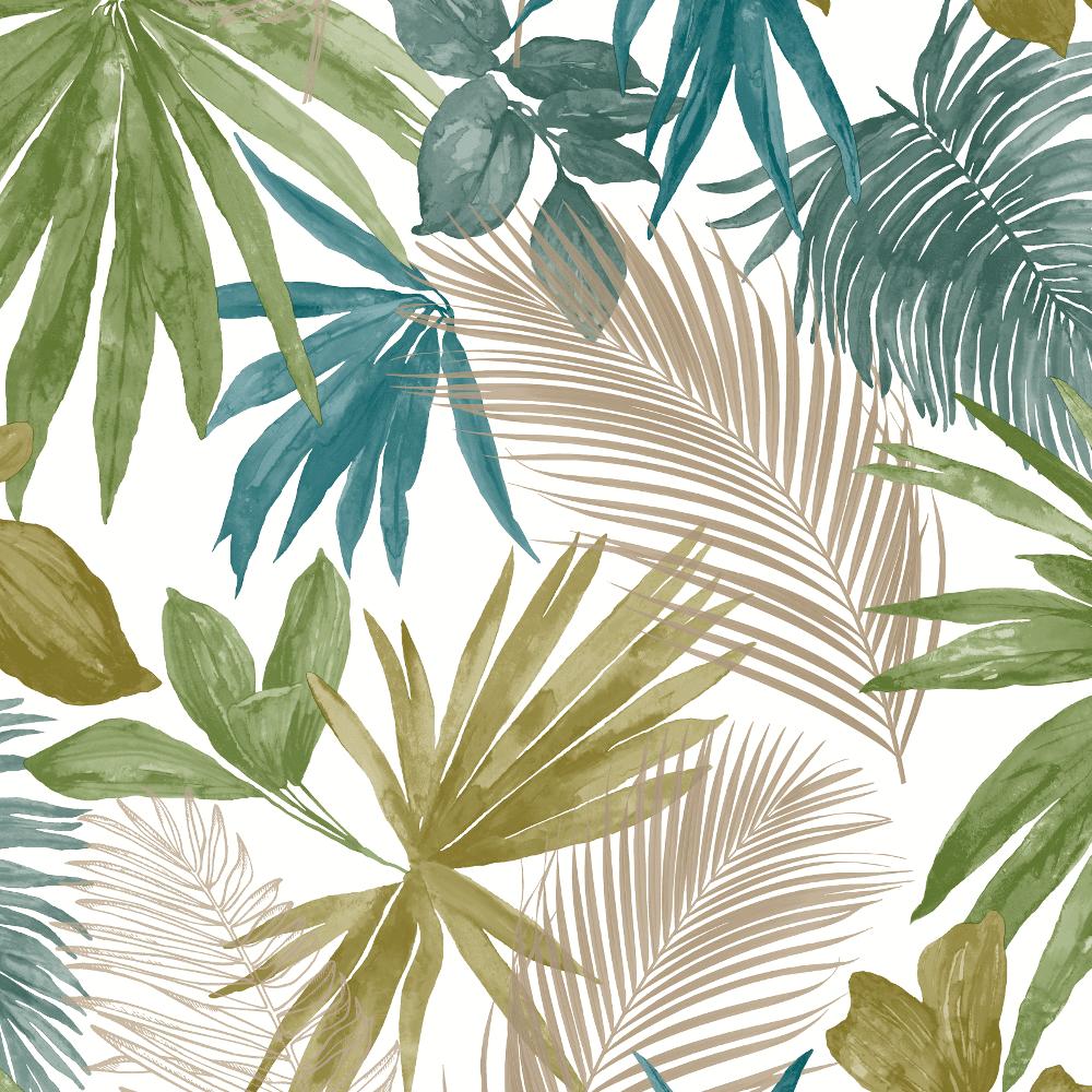 Shop Jungle Tropical Metallic Palm Tree Wallpaper Multi Jf3602