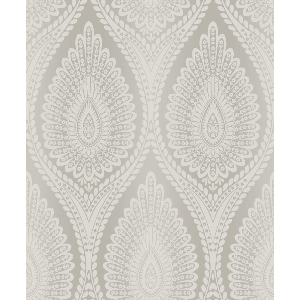 Karla Glitter Floral Modern Moroccan Style Damask Pattern Textured Wallpaper A37102
