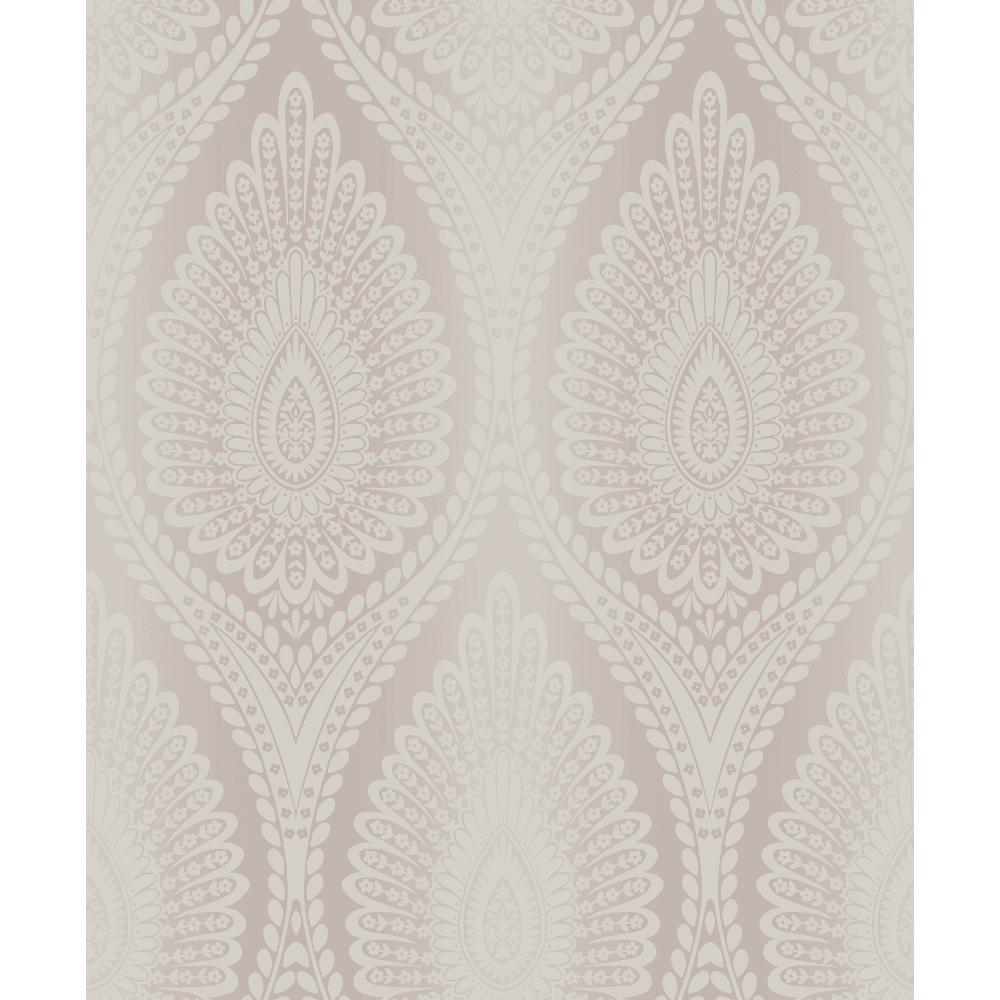 Karla Glitter Floral Modern Moroccan Style Damask Pattern Textured Wallpaper A37103