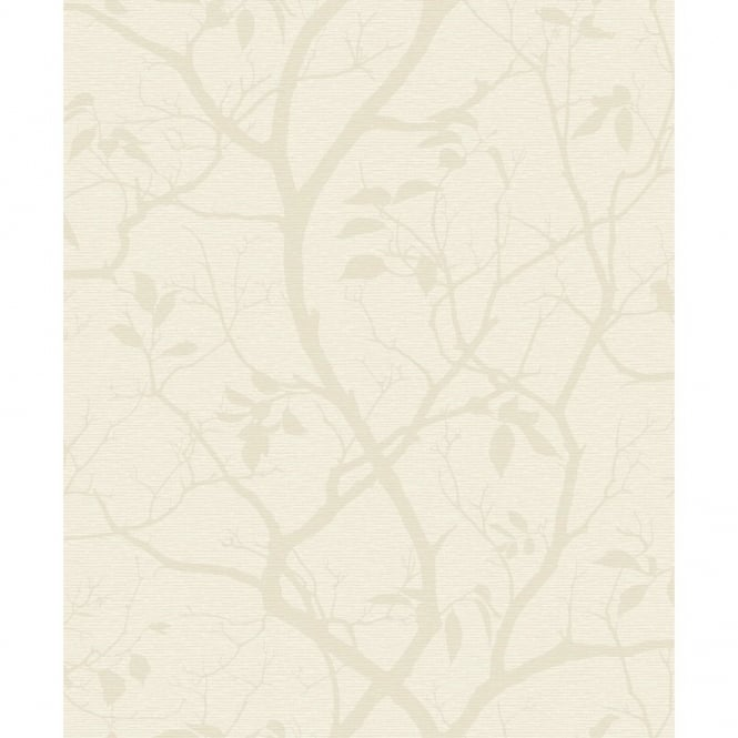 Grandeco Marino Floral Leaf Pattern Silhouette Tree Metallic Wallpaper A10115