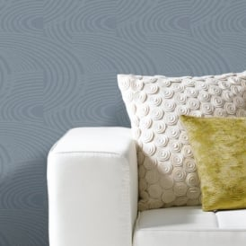 Grandeco Oasis Curve Stripe Pattern Metallic Glitter Textured Wallpaper A10607