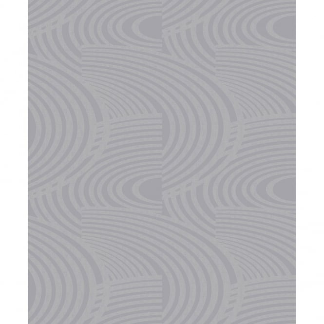 Grandeco Oasis Curve Stripe Pattern Metallic Glitter Textured Wallpaper A10609