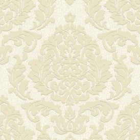 Grandeco Palazzo Damask Leaf Square Textured Designer Non Woven Wallpaper PL-41101