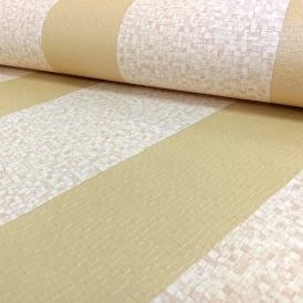 Grandeco Palazzo Gold Stripe Square Textured Designer Wallpaper PL-41610