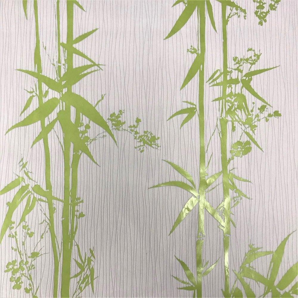 Grandeco Palmi Palm Leaf Pattern Wallpaper Metallic Motif ...