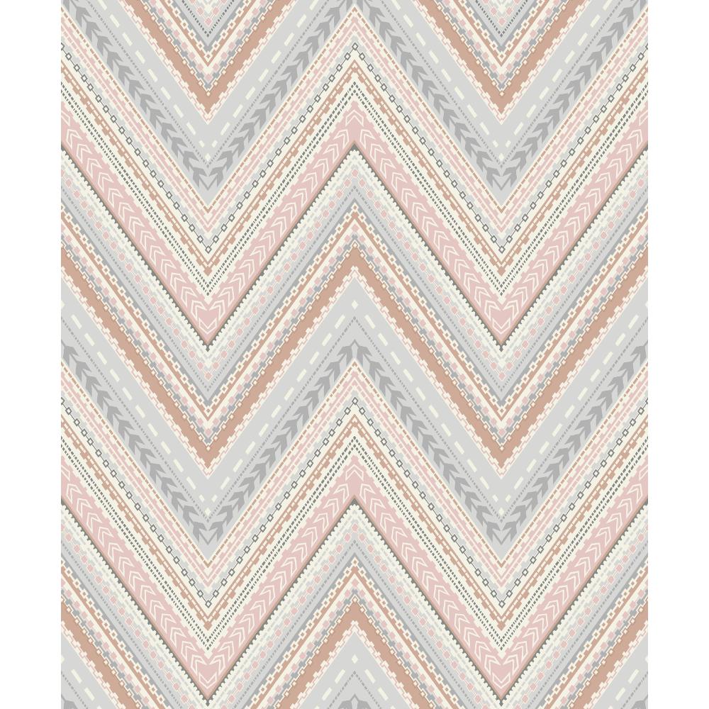 Pandora Pastel Stripe Zigzag Modern Geo Wave Textured Wallpaper A32504