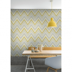 Pandora Pastel Stripe Zigzag Modern Geo Wave Textured Wallpaper