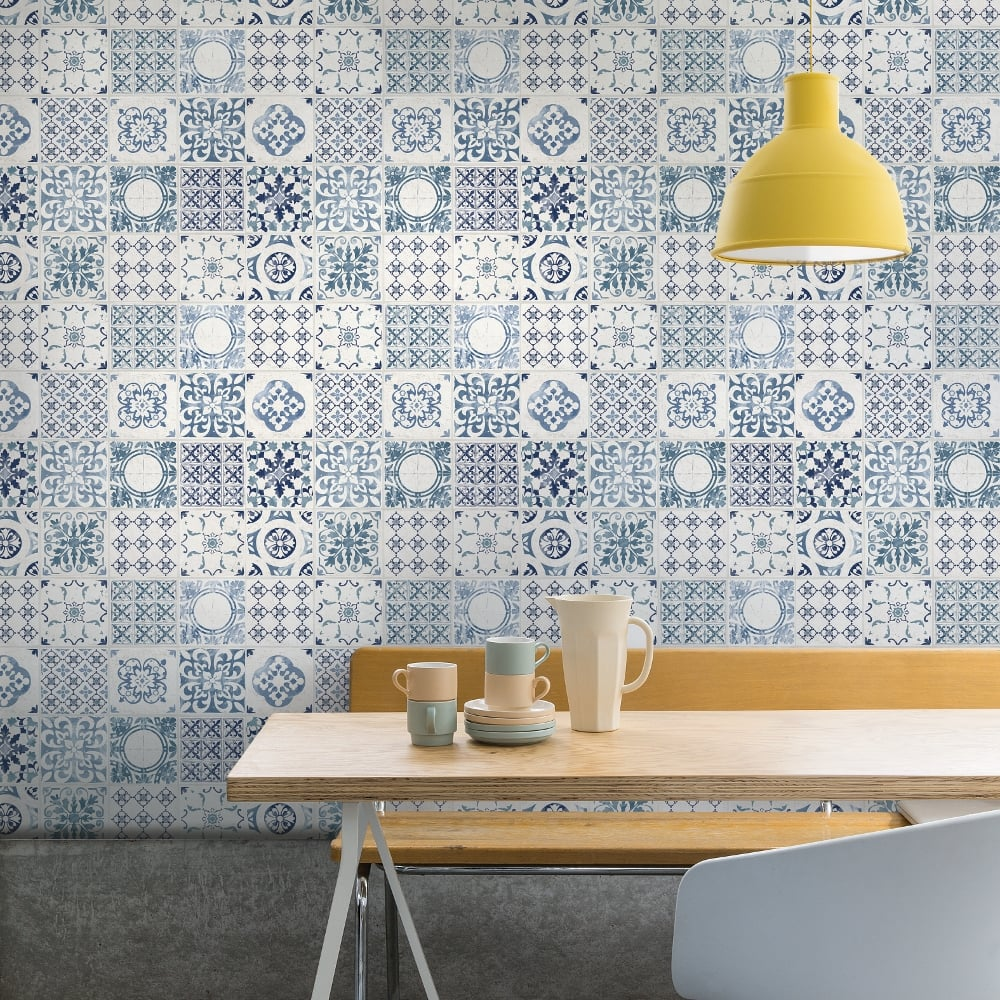 Grandeco Porto Floral Pattern Wallpaper Baroque Motif Kitchen ...