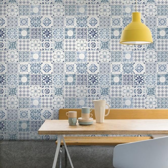 Kitchen Wallpaper Green: Grandeco Porto Floral Pattern Wallpaper Baroque Motif