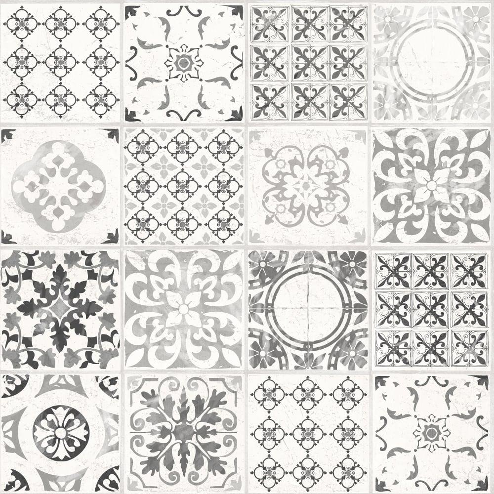 Grandeco Porto Floral Pattern Wallpaper Baroque Motif Kitchen ...