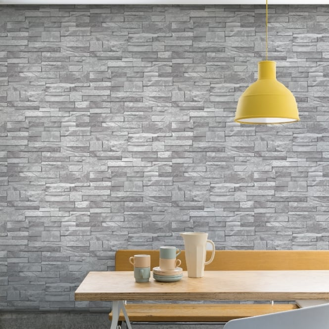 Grandeco Stone Pattern Wallpaper Faux Effect Realistic Embossed Brick A17202
