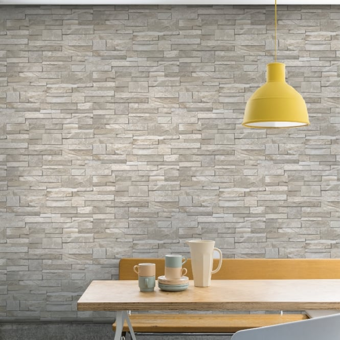 Grandeco Stone Pattern Wallpaper Faux Effect Realistic Embossed Brick A17203