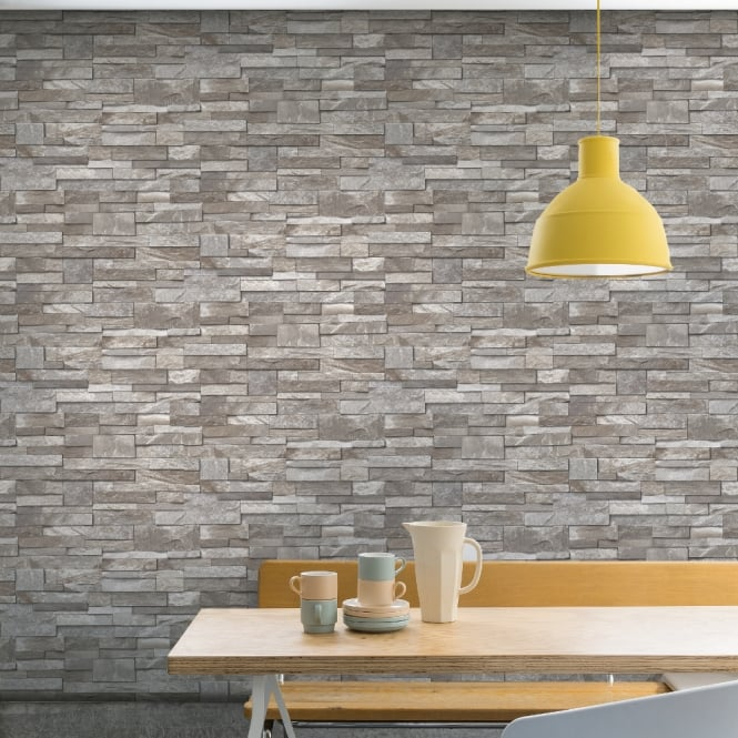Grandeco Stone Pattern Wallpaper Faux Effect Realistic Embossed Brick A17204