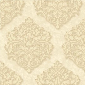 Grandeco Venice Large Damask Textured Embossed Blown Vinyl Wallpaper VNA-005-005-6