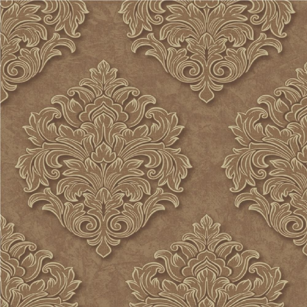 Grandeco Venice Large Damask Textured Embossed Blown Vinyl