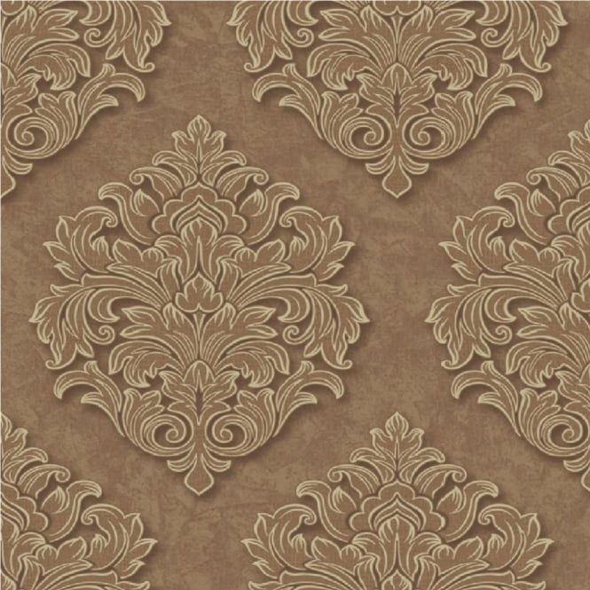 Grandeco Venice Large Damask Textured Embossed Blown Vinyl Wallpaper VNA-005-006-3
