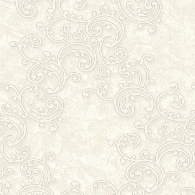 Grandeco Venice Scroll Textured Embossed Blown Vinyl Wallpaper VNA-003-001-0