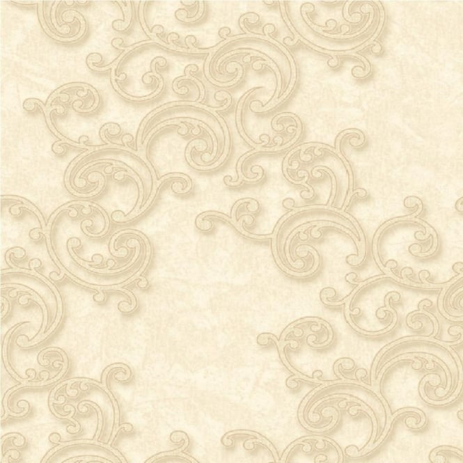 Grandeco Venice Scroll Textured Embossed Blown Vinyl Wallpaper VNA-003-003-4