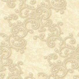 Grandeco Venice Scroll Textured Embossed Blown Vinyl Wallpaper VNA-003-005-8