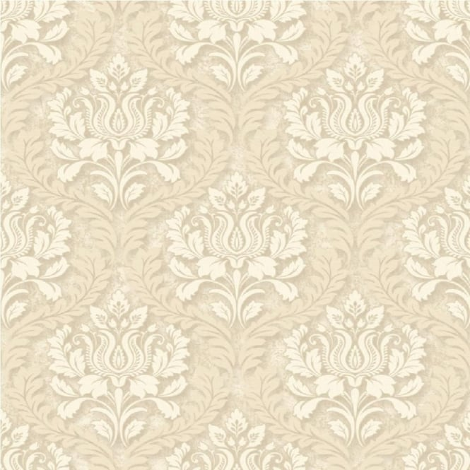 Grandeco Venice Small Damask Textured Embossed Blown Vinyl Wallpaper VNA-006-004-8