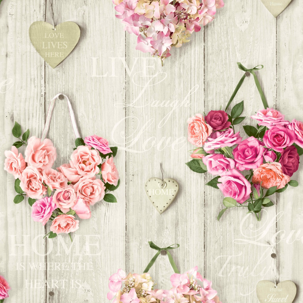 Vintage heart wallpaper