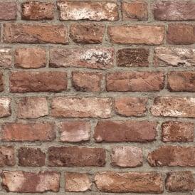 3D Red Brick Effect WallpaperRealistic Urban Brick RedArthouse 696600