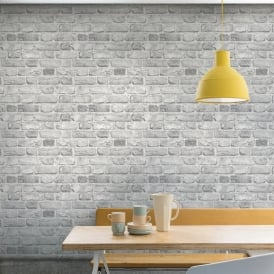 Grandeco Vintage House Brick Pattern Wallpaper Faux Effect Textured A28903