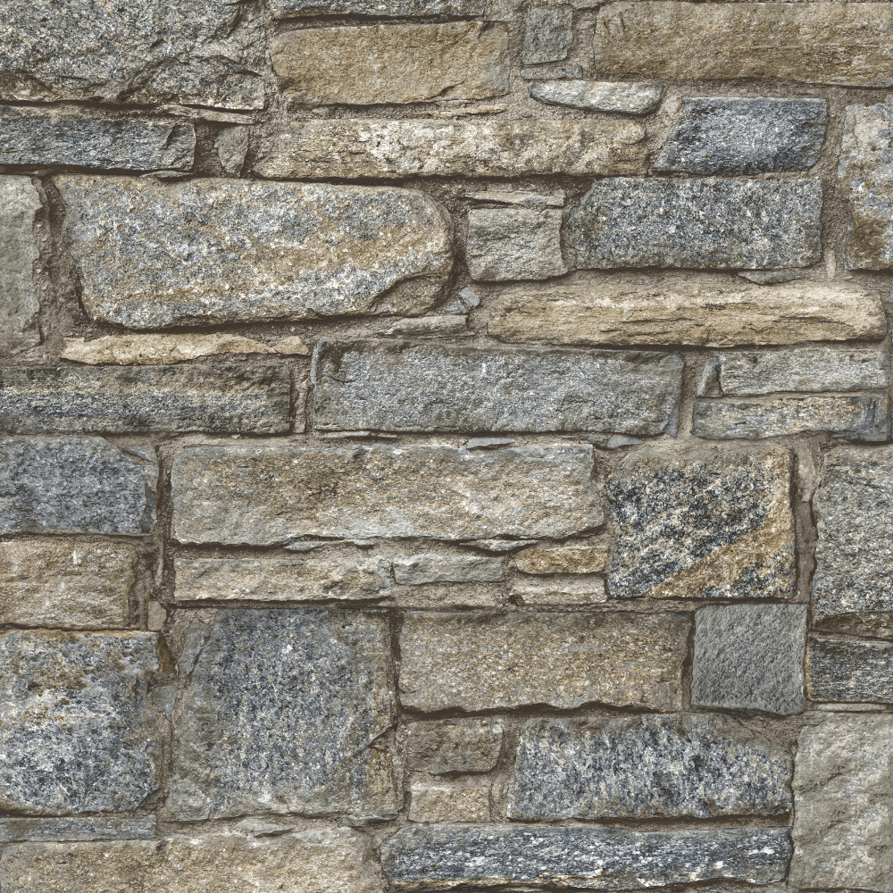 Brick Effect Wallpaper Industrial Stones Slates Weathered Look Natural Arthouse