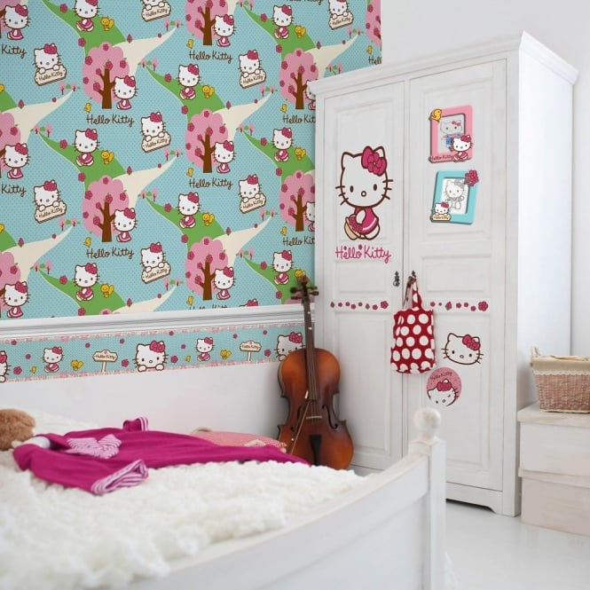 Graham & Brown Hello Kitty Woodland Walk Wallpaper 70-239